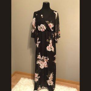 Black Floral Maxi